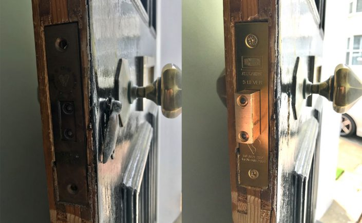 LBP locksmith brighton before after