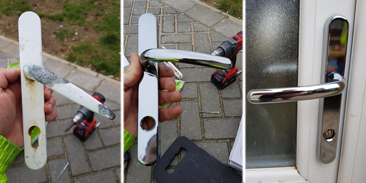 LBP upvc door handle replacement